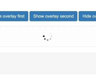 Angular Module For Customizable Loading Overlay