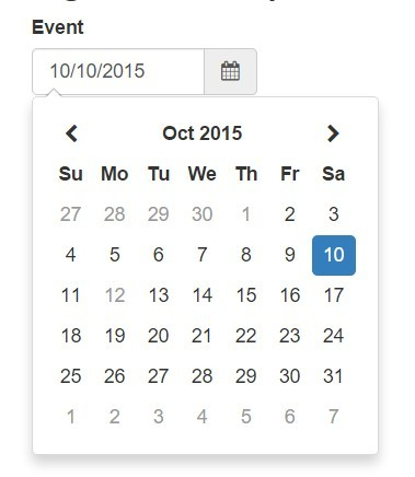 Basic Datepicker Directive with Angular and Moment js