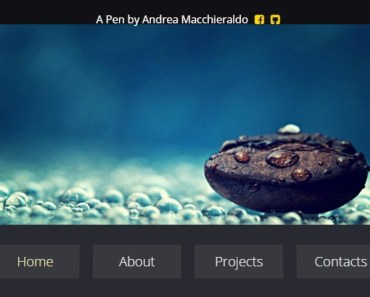 Simple 3D Menu With CSS3 and AngularJS