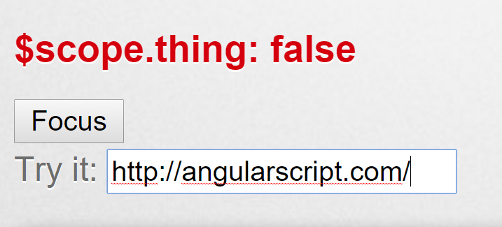 Angular Directive For Automatic Input Focus