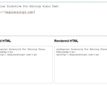 Angular Directive For Editing Plain Text