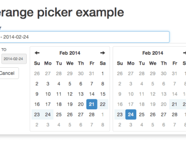 Date Range Picker for Angular and Bootstrap
