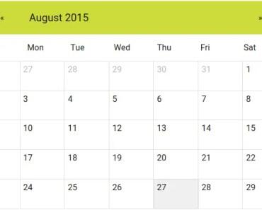Lightweight AngularJS Material Calendar