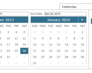 Pure Angular Date Range Picker