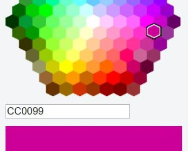 Simple Hexagon Color Picker For Angular