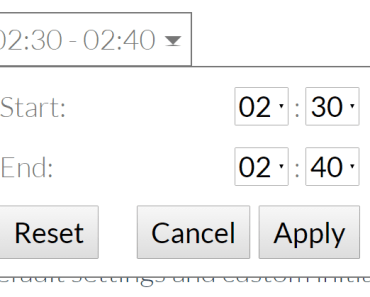 Time Range Picker with default settings