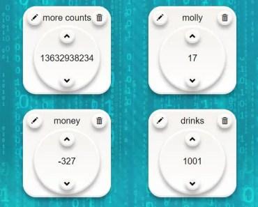 AngularJS Based Counting Web App