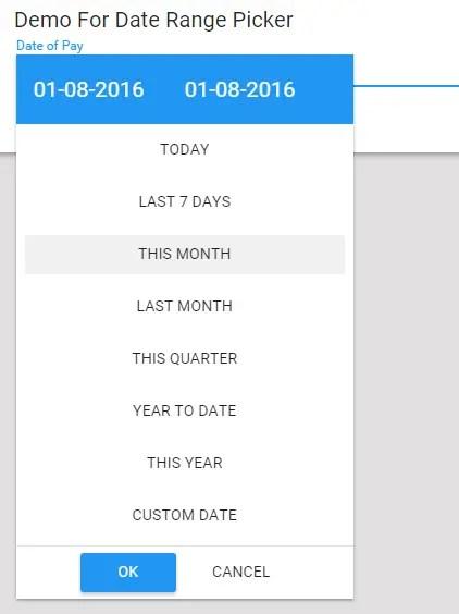 smDateTimeRangePicker Date Range Picker
