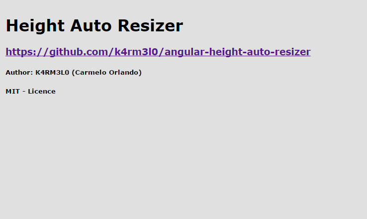 Angular Height Auto Resize Directive