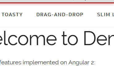 Angular 2 Slim Loading Bar Component