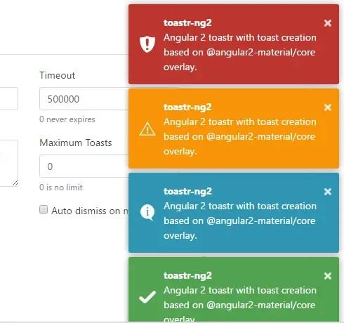 Angular 2 Toastr Component | Angular Script