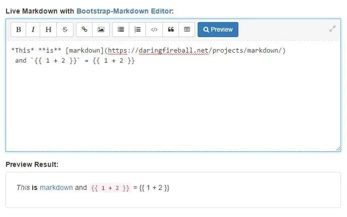 Angular Markdown Editor (Directive)