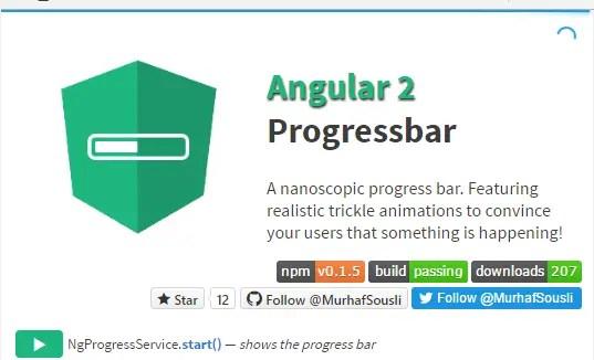 Nano Progress Bar Component For Angular 2