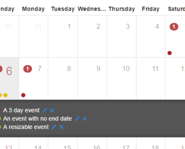 Angular 2.0+ Calendar Component