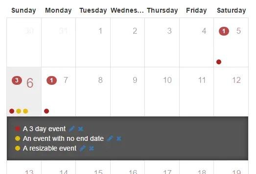 Angular 2 0+ Calendar Component | Angular Script