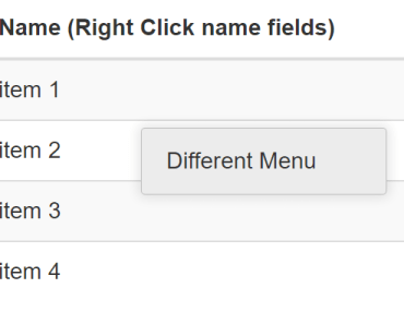 Right Click Context Menu For Angular