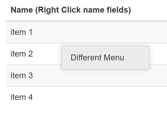 Right Click Context Menu For Angular