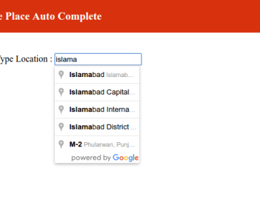 Google Places Autocomplete Not Working In Modal