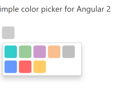 Minimal Color Picker For Angular 2