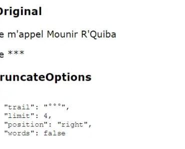 Angular 2+ String Truncate Module
