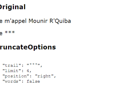 Angular 2+ String Truncate Module