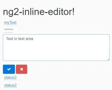 Native UI Inline-editor Angular2 Component