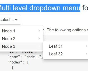 Angular Multi level Dropdown Menu Direcitve