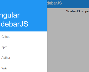 Mobile Sidebar Side Nav For Angular
