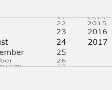 iOS Style AngularJS Datepicker Directive