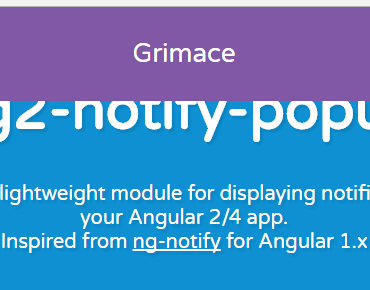 Angular 2+ Notify Popup Component