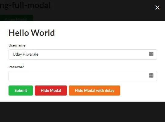 Angular Full Modal Service