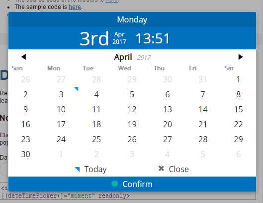 AngularJS 2+ Date Time Picker | Angular Script