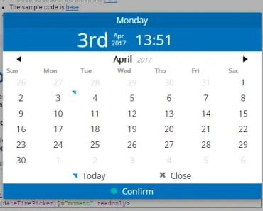 AngularJS 2 Date Time Picker