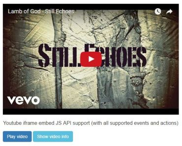 AngularJS Module For Easy Youtube Video Embed