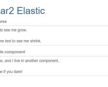 Elastic Textarea Component For Angular