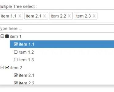 Angular 4 Tree Select Component