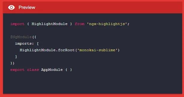 Angular Syntax Highlighting Module