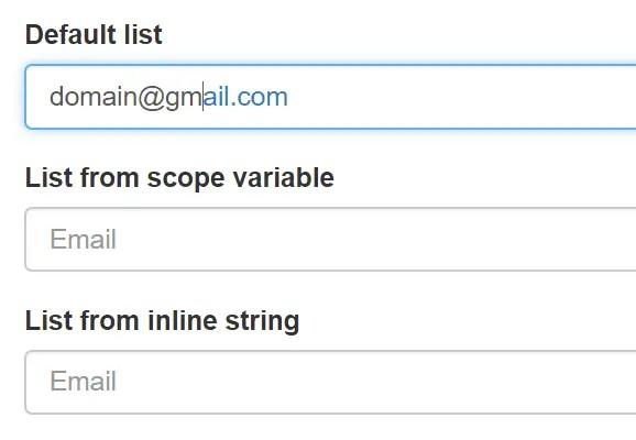 AngularJS Email Autocomplete
