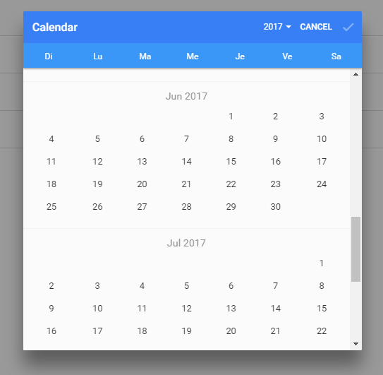 Date Picker For Ionic 2