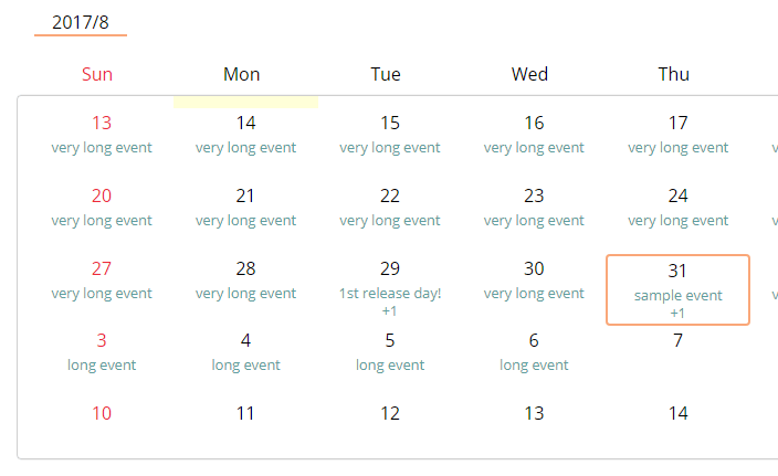 Infinite Scrollable Calendar For Angular