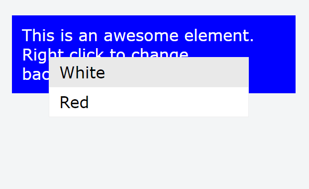 Simple Plain Context Menu For Angular