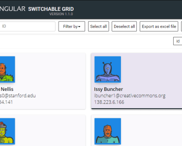 Angular Switchable Grid Component