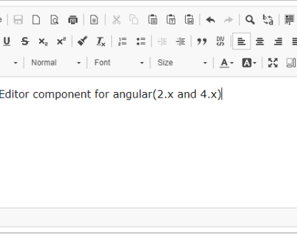 WYSIWYG Editor for Angular 6 - ngx-editor | Angular Script