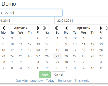 Angular 2+ Date Range Picker Component