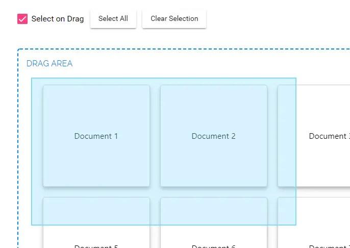 Drag To Select Component For Angular 5+