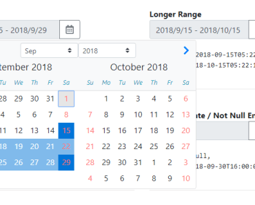 Date Range Picker With Angular And Bootstrap 4