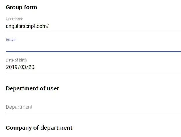 Dynamic Form Group Builder For Angular 7+