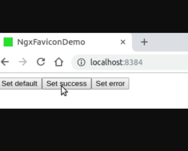Update Favicon On App - ngx-favicon