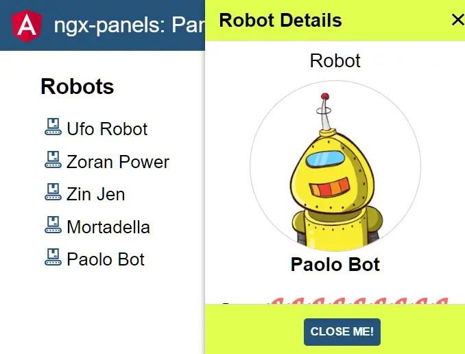 Create Custom Sidebar Panels In Angular - ngx-panels