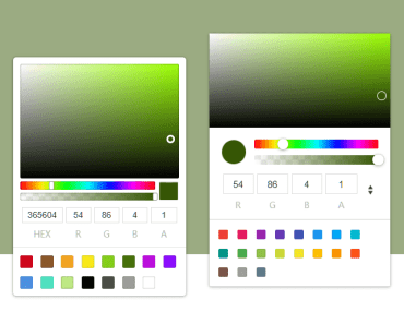 Simple Configurable Color Picker For Angular